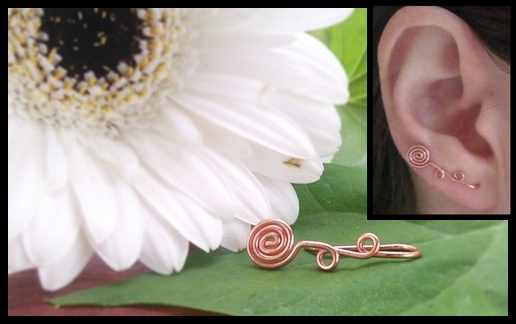 wire wrapped copper rose earvine