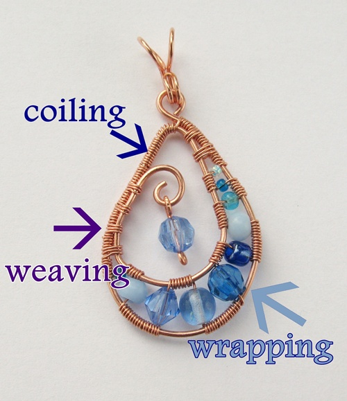 weaving, coiling and wrapping with wire