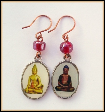 handmade buddha earrings