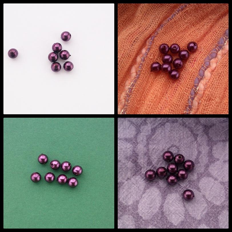 paarse kralen, voorbeelden van contrast