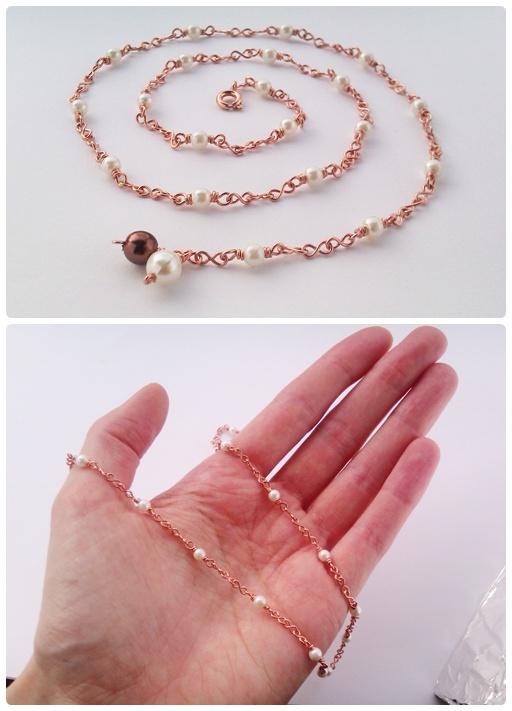 handmade 8 link necklace