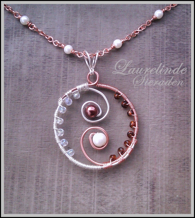 wire wrapped yin yang pendant