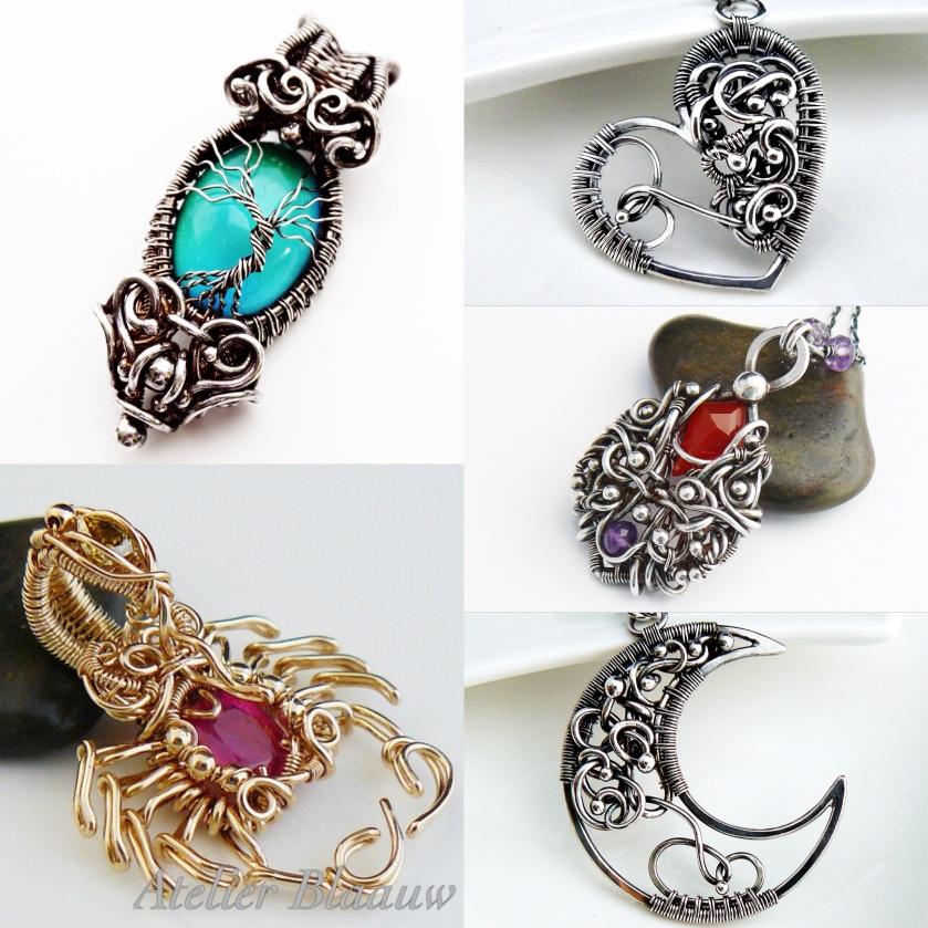 prachtige handgemaakte sieraden van Atelier Blaauw