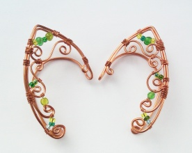handmade elven earcuffs