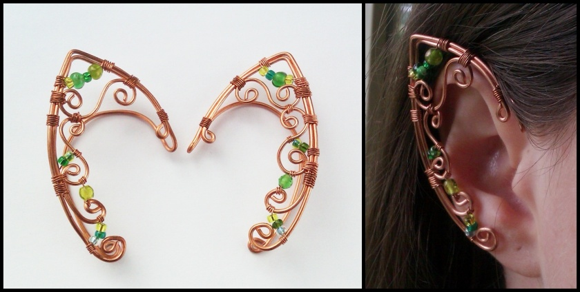 wire wrapped elven earcuffs
