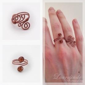 koperen ringen met spiralen