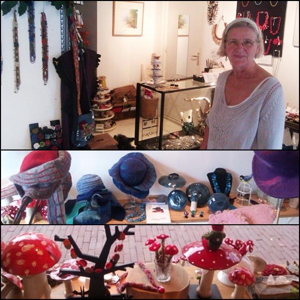 Kunst in Perspectief met eigenaresse Marjolein. Vanaf 3 november wisselt de winkelcollectie, nieuwe foto's volgen binnenkort.