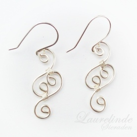 Lianna, elegant filigree spiral earrings