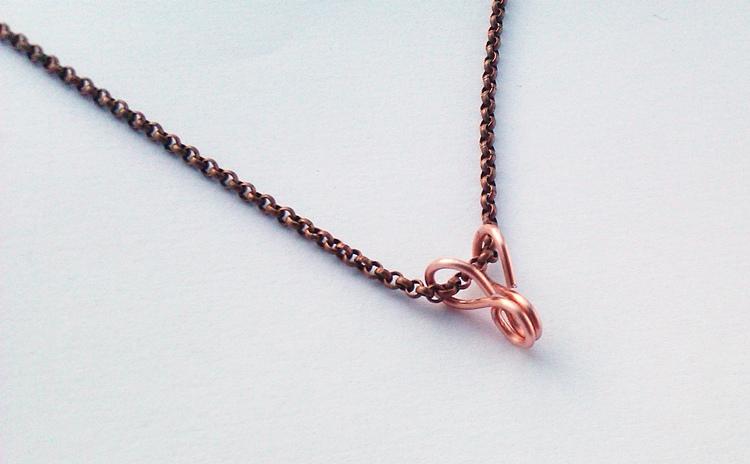 handmade pendant bail, design by Gayle Bird