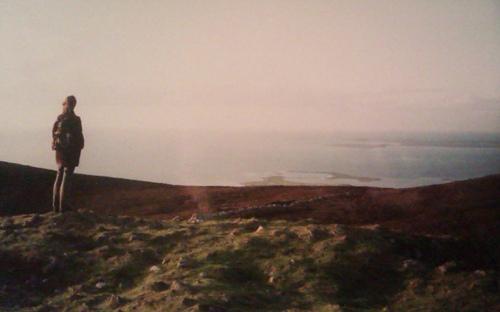 Uitzicht vanaf Maeve's grave in Sligo, ierland