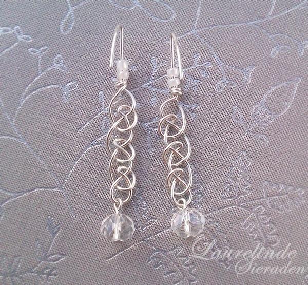 keltisch gevlochten oorbellen van sterling zilver