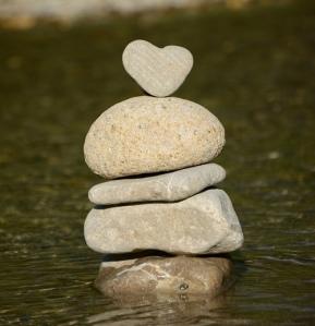 balance, stones, heart