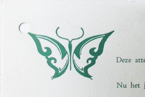 De vlinder, logo