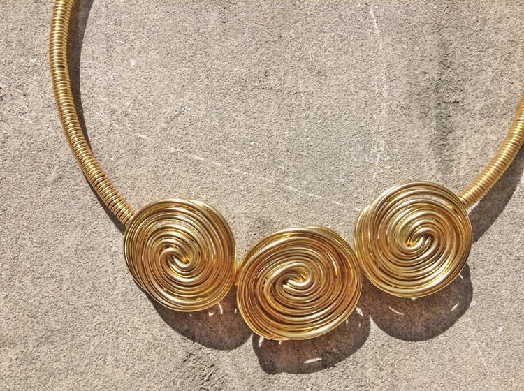 aluminium spiralen wire wire ketting door CHarlotte
