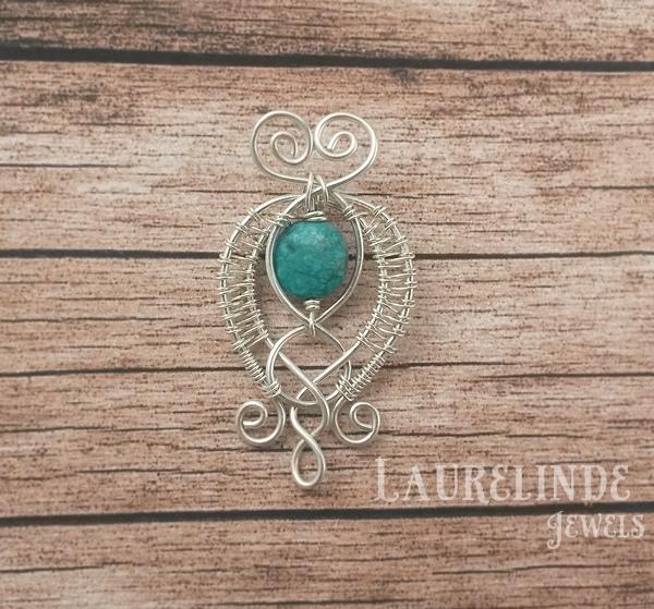 zilveren hanger met elegante lijnen Caoimhe