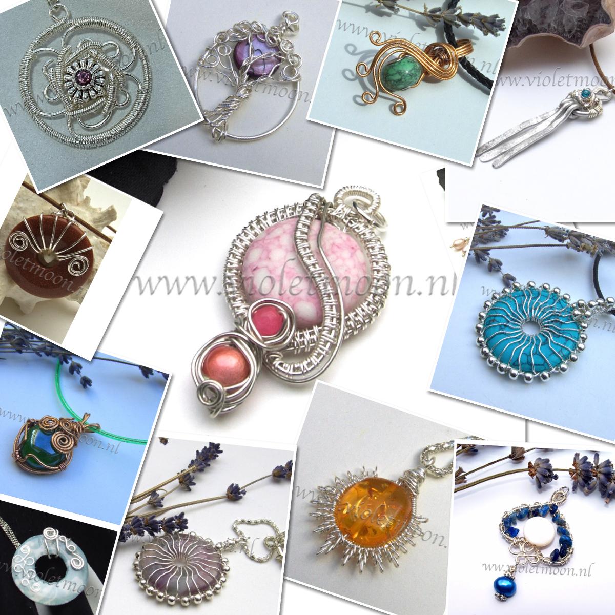 wire sieraden van Violetmoon.nl