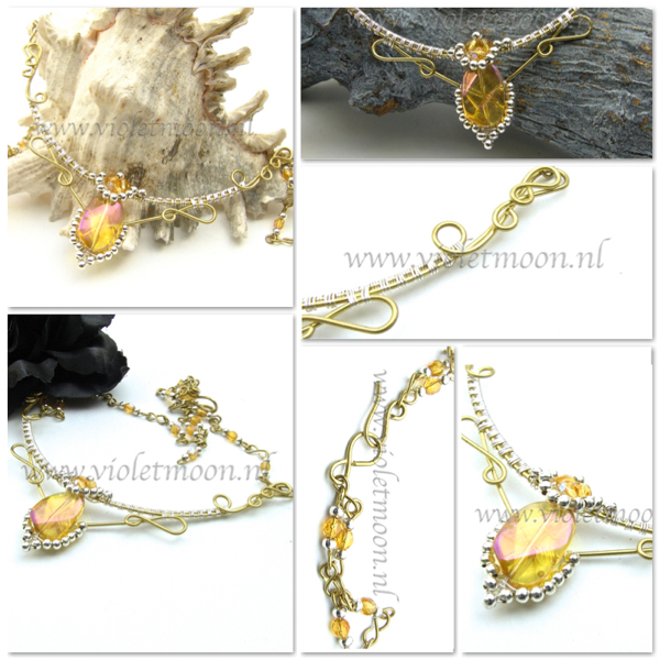 Indian Princess wire ketting van Violetmoon.nl