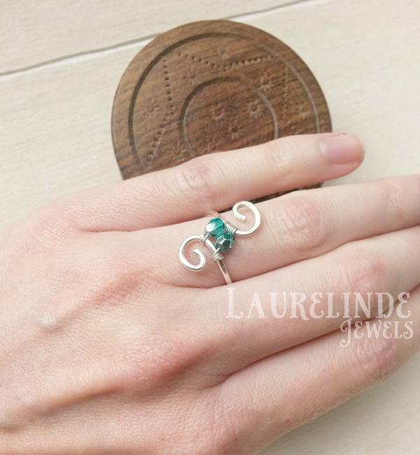sierlijke zilveren ring Lian