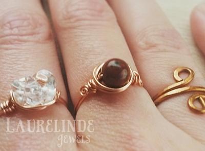 koperen wire ringen van Laurelinde