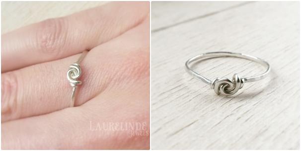 stapelbare zilveren ring