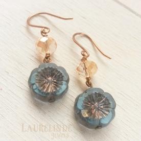 Rustieke bloem oorbellen van Laurelinde Sieraden