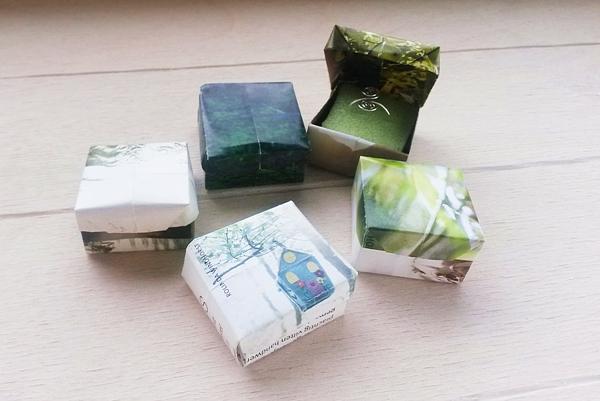 verschillende origami cadeaudoosjes