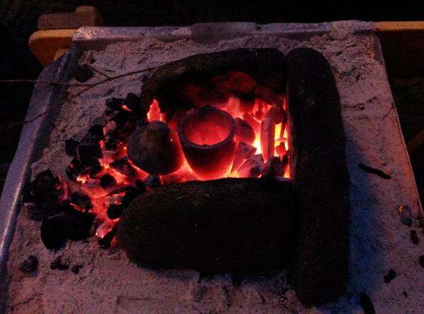 vuur voor bronsgieten