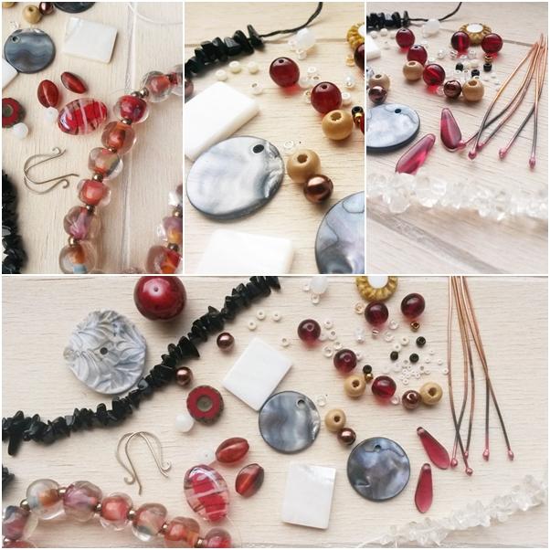 kralen inspiratoe voor de sieraden collectie Persephone
