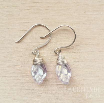 zilveren blaadjes oorbellen