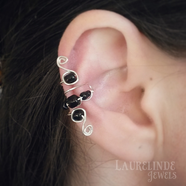 wire filligree earcuff