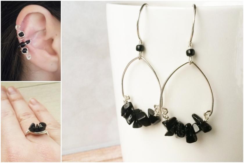 zwart en zilveren wire sieraden van Laurelinde