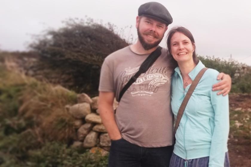 Laurien en Jeroen in Cornwall